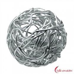 Draht-Kugel 20 mm Silber 1 Stück