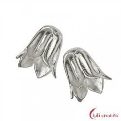 Blütenkelch 14 mm Silber VE 2 Stück