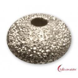 Linse 4 mm Silber diamantiert VE 50 Stück