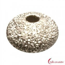 Linse 6 mm Silber diamantiert VE 12 Stück
