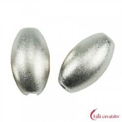 Olive 4 mm Silber matt VE 26 Stück