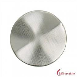 Platte rund gewellt 25 mm Silber matt 1 Stück
