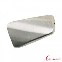 Rechteck gedreht facettiert 20 mm Silber matt VE 3 Stück