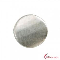 Platte rund gewellt facettiert 15 mm Silber matt VE 3 Stück