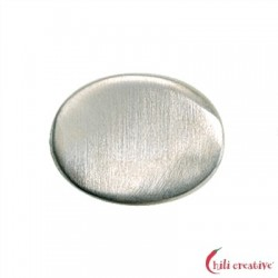 Platte oval gewellt 20 mm silber matt 3 St./VE