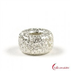 Rondell 3 mm Silber diamantiert VE 94 Stück