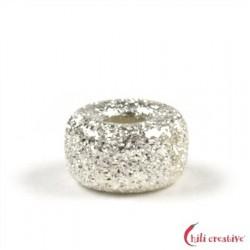 Rondell 6 mm Silber diamantiert VE 13 Stück