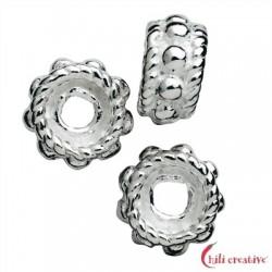 Rondell verziert 5 mm Silber 19St./VE