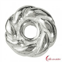 Gekordeltes Rädchen 5 mm Silber VE 26 Stück