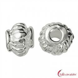 Linse geriffelt 4,5 mm Silber VE 17 Stück