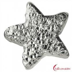Funkel-Sternchen 5 mm Silber diamantiert VE 25 Stück