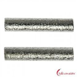 Röhrchen 2x15 mm Silber matt VE 15 Stück