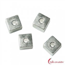 Würfel längs gebohrt 4 mm Silber VE 10 Stück