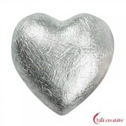 Herz 8 mm Silber matt VE 6 Stück