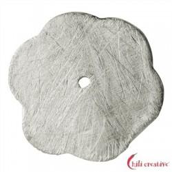Blumenscheibe 12 mm Silber matt VE 8 Stück