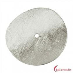 Scheibe gebogen 15 mm Silber matt VE 5 Stück