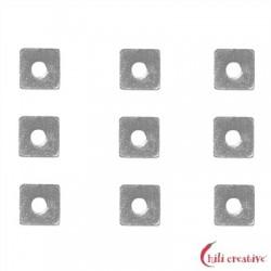 Scheibe quadratisch 3x3 mm Silber VE 62 Stück