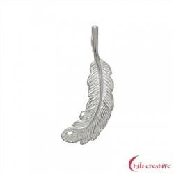 Feder Eule 24 mm Silber VE 4 Stück