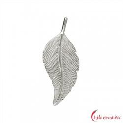 Feder Schwalbe 40 mm Silber 1 Stück
