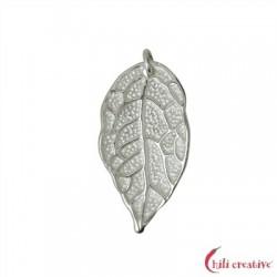 Rosenblatt mit Öse 26 mm Silber VE 2 Stück