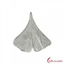 Ginkoblatt 20 mm Silber VE 2 Stück