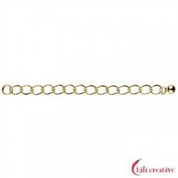 Verlängerungs-Kette 60 mmx2 mm Silber vergoldet VE 6 Stück