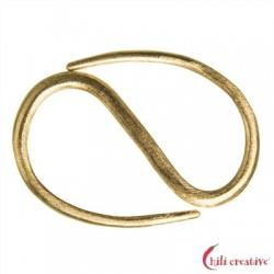 S-Haken Design 30 mm Silber vergoldet matt VE 2 Stück