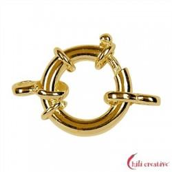 Federring Design 16 mm mit 2 Ösen Silber vergoldet 1 Stück