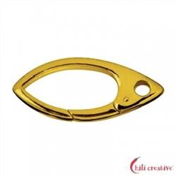 Design-Karabiner Navette 32 mm Silber vergoldet 1 Stück