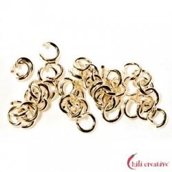 Biegering 6 mm Silber vergoldet VE 36 Stück