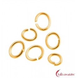 Biegering oval 4x6 mm Silber vergoldet VE ca. 50 Stück
