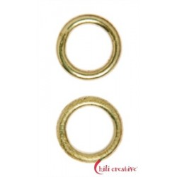 Bindering 6 mm Silber vergoldet VE 37 Stück