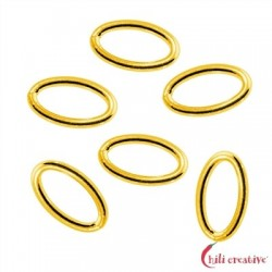 Binderinge oval 4x6 mm Silber vergoldet VE 70 Stück