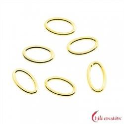Binderinge oval 6x10 mm Silber vergoldet VE 20 Stück