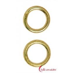 Bindering 10 mm Silber vergoldet VE 10 Stück