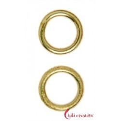 Bindering 12 mm Silber vergoldet matt VE 5 Stück