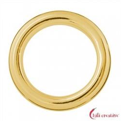 Hohlring Jumbo 25 mm Silber vergoldet VE 2 Stück