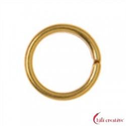 Spaltring 6 mm Silber vergoldet VE 40 Stück