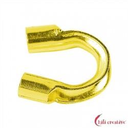 Drahtschoner groß 1,14 mm Röhrchen-Durchmesser Silber vergoldet VE 50 Stück