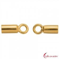 Endkappe Basis 7 mm/2,5 mm Silber vergoldet VE 4 Stück