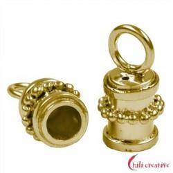 Endkappe Kugeldekor 8 mm/3 mm Silber vergoldet VE 2 Stück