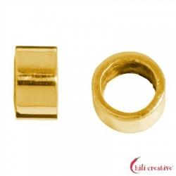 Abstandhalter-Röhrchen 5 mm Silber vergoldet matt VE 12 Stück