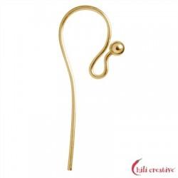 Ohrhaken geschwungen 25 mm Silber vergoldet VE 12 Stück