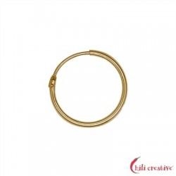 Creole 15 mm Silber vergoldet VE 6 Stück