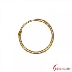 Creole 18 mm Silber vergoldet VE 4 Stück