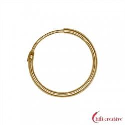 Creole 23 mm Silber vergoldet VE 2 Stück