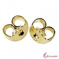 Ohrmutter Silber vergoldet VE 12 Stück