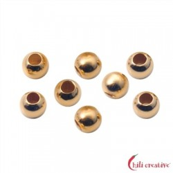 Quetschkugeln Silber vergoldet 2,2 mm VE 185 Stück