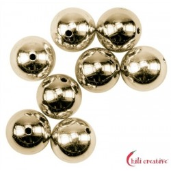 Kugel 5 mm Silber vergoldet VE 21 Stück