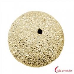 Kugel 14 mm Silber vergoldet diamantiert 1 Stück